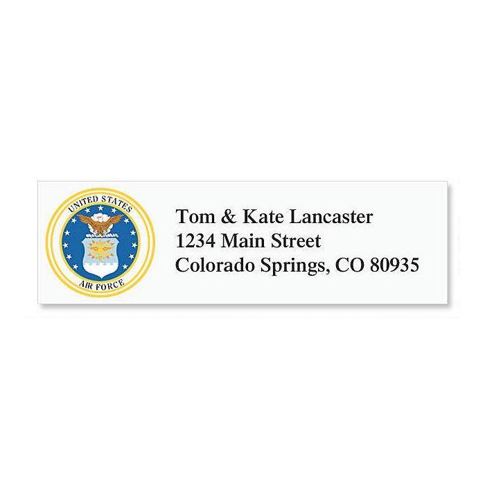 Air Force Classic Return Address Labels