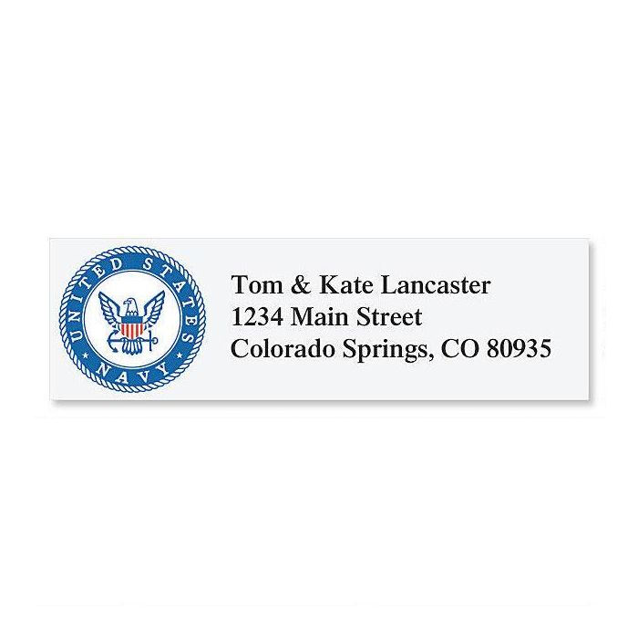 Navy Classic Return Address Labels