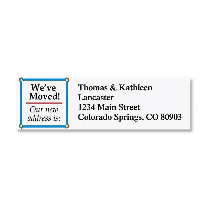 We've Moved Classic Return Address Labels