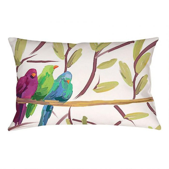 flocked together indoor outdoor pillow colorful images