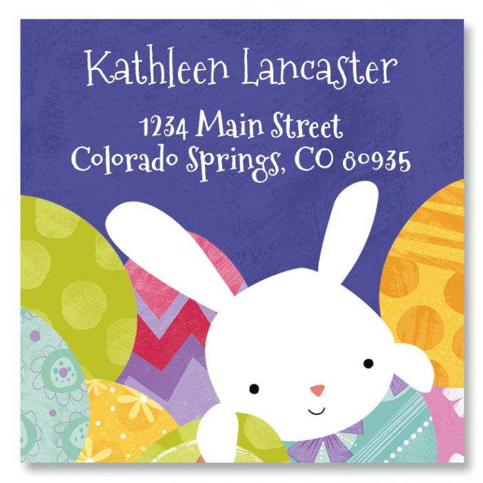 Easter Chick Large Square Return Address Label