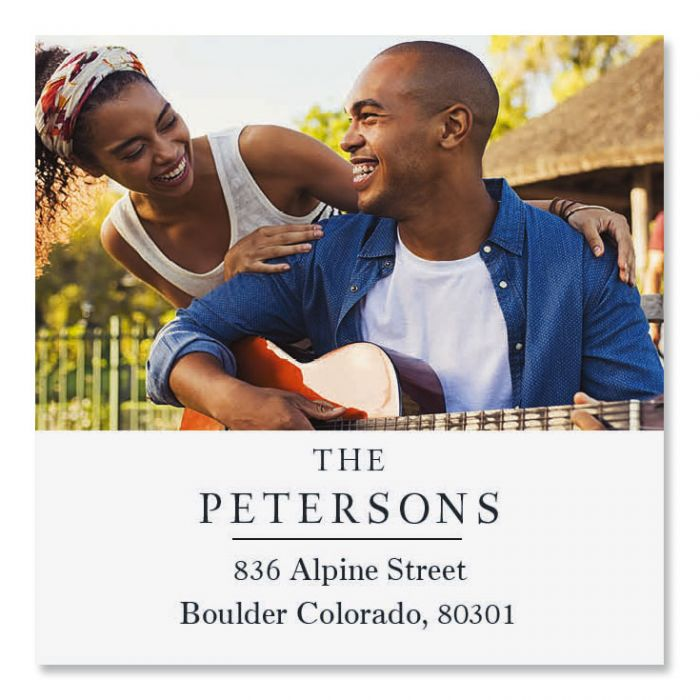 Personalized Classic Large Square Photo Address Label