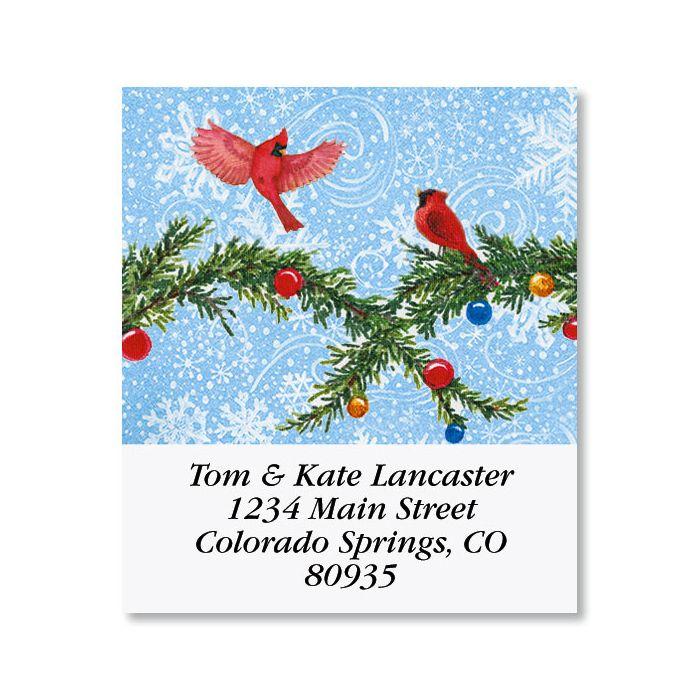 Snowman's Heart Select Christmas Address Labels