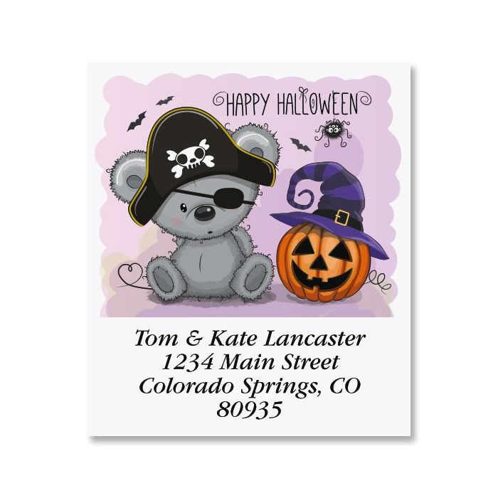 Adorable Halloween Bear Select Return Address Labels