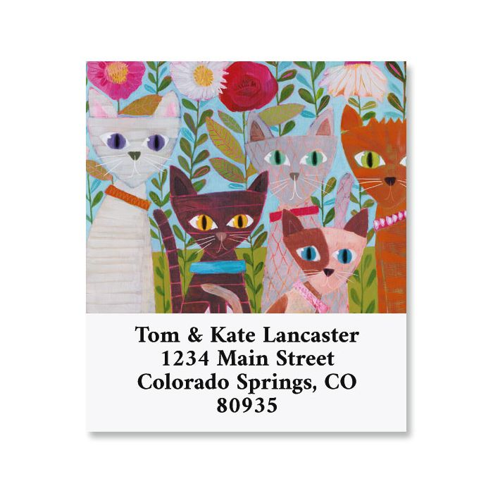 Garden Cats Select Return Address Labels
