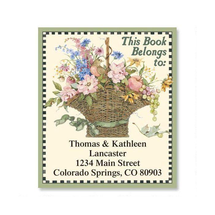 Floral Basket  Bookplates