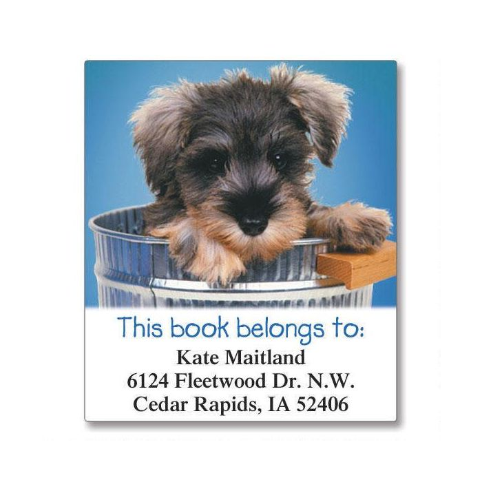 Doggone Cute  Bookplates