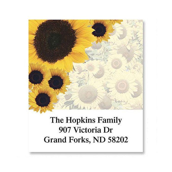 Sunflowers Galore  Select Return Address Labels