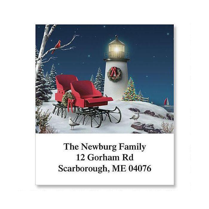 Christmas Sleigh Holiday Select Return Address Labels