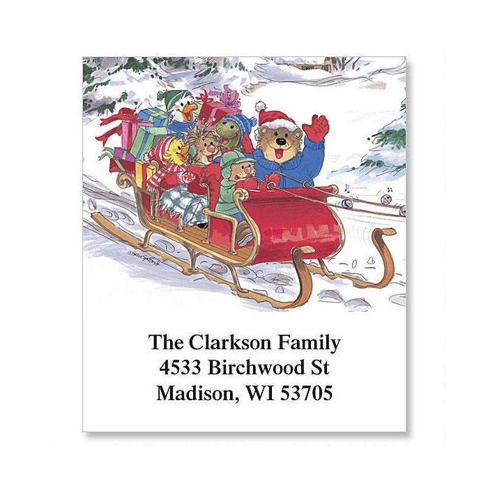 Jingle All the Way Select Return Address Labels