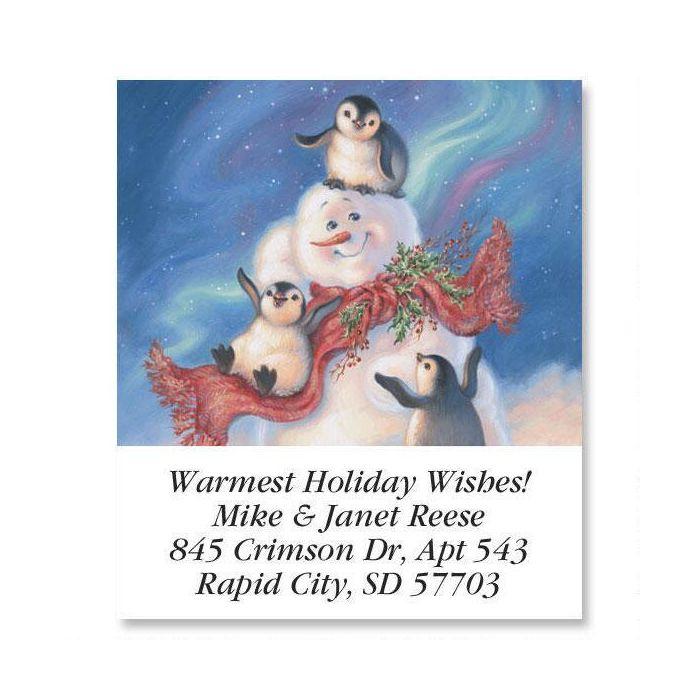 Snow Buddies  Holiday Select Return Address Labels