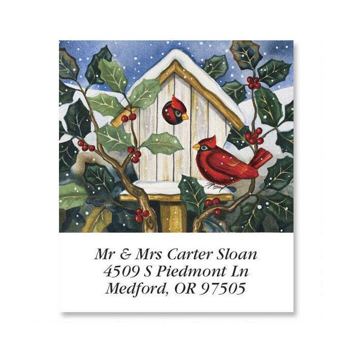 Cardinals at Home   Select Return Address Labels