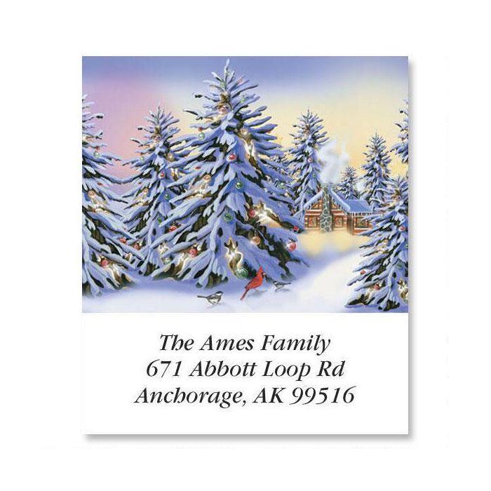Snowy Trees  Select Return Address Labels