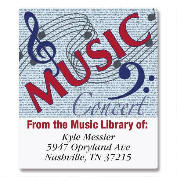 Music/CD   Bookplates