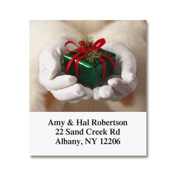 Santa's Hands Select Return Address Labels