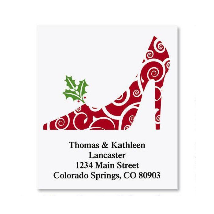 Holiday Heels Select Return Address Labels