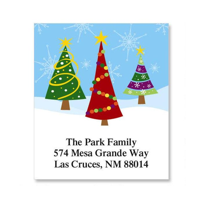 Family Trees Select Return Address Labels | Colorful Images