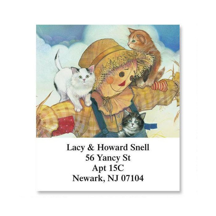 Scarecrow & Cats Select Return Address Labels