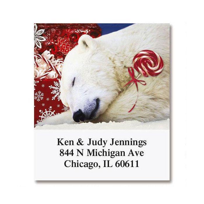 Polar Bear Christmas Select Return Address Labels