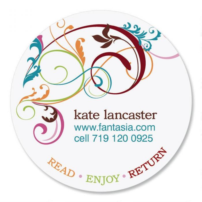Fantasia Round Bookplates