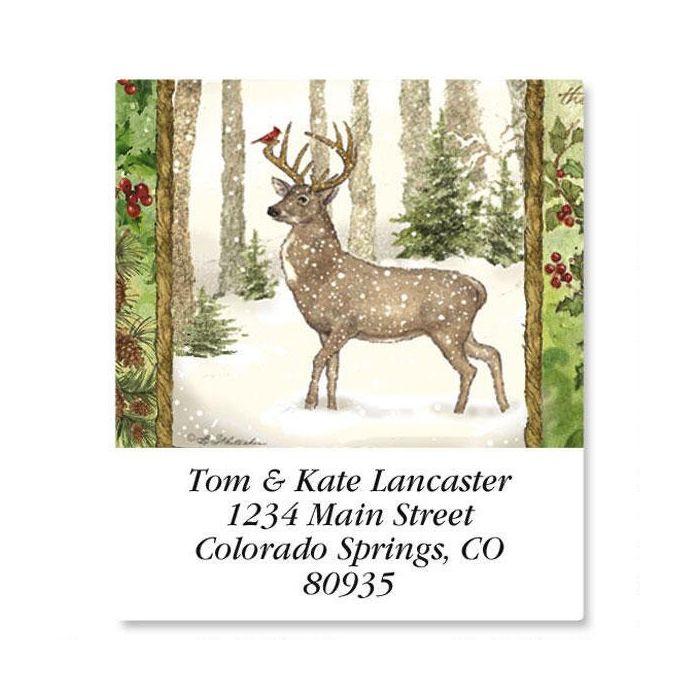 Christmas Pine Select Return Address Labels