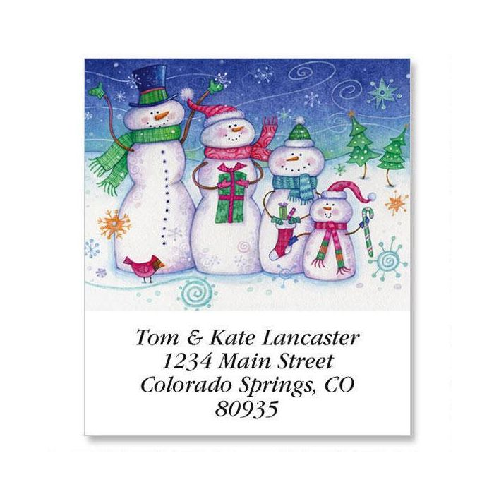 Snow Family Select Return Address Labels