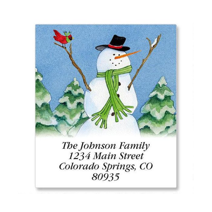 Our Fun Snow Family Select Return Address Labels