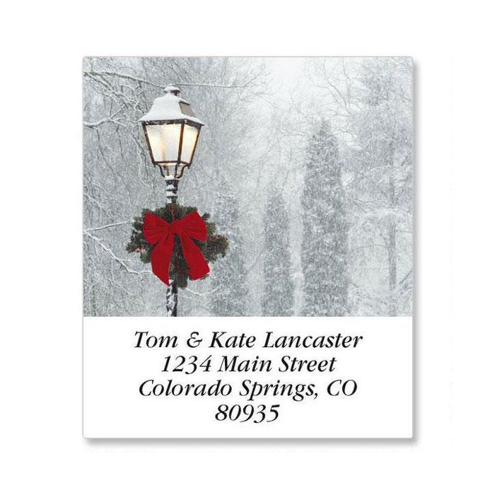 Snowy Holiday Select Return Address Labels