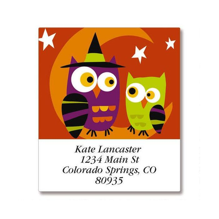 Halloween Owls Select Return Address Labels