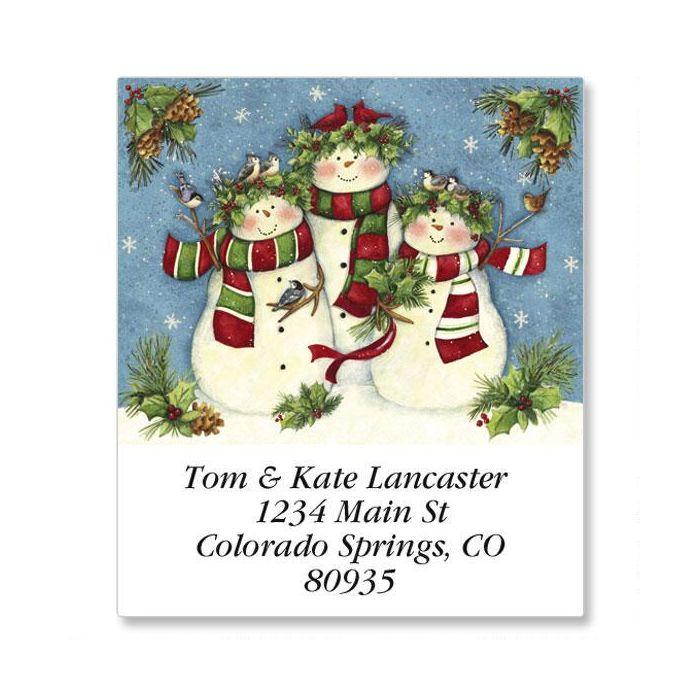 Snow Family Trio Select Return Address Labels