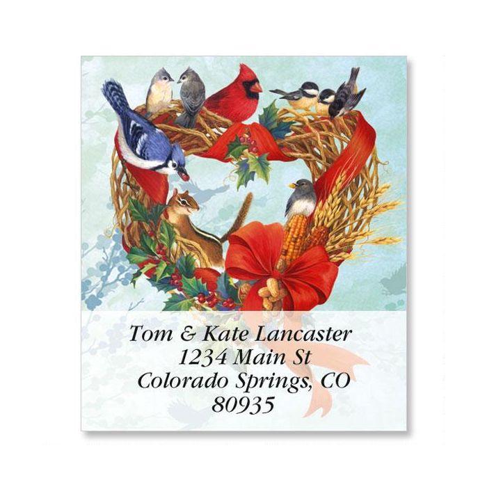 Birdland Wreath Select Return Address Labels