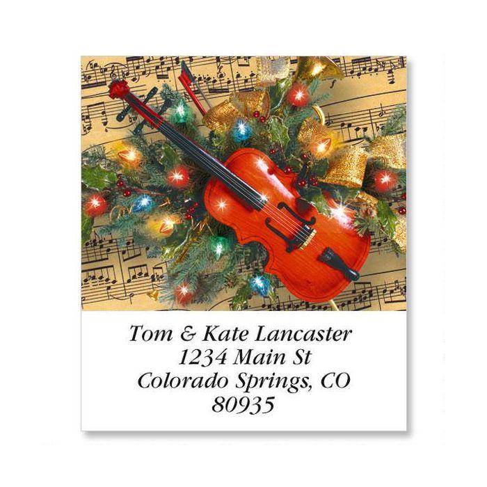 Christmas Music Select Return Address Labels