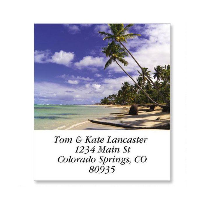Caribbean Beach Select Return Address Labels