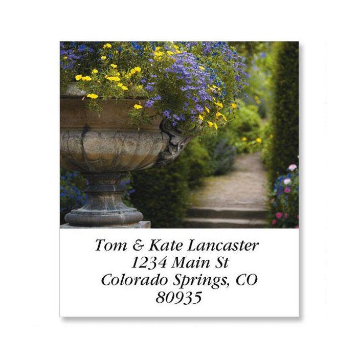 English Garden Path Select Return Address Labels