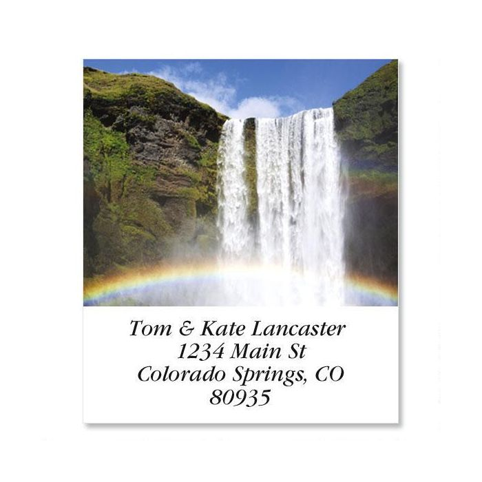 Skogafoss Waterfall  Select Return Address Labels