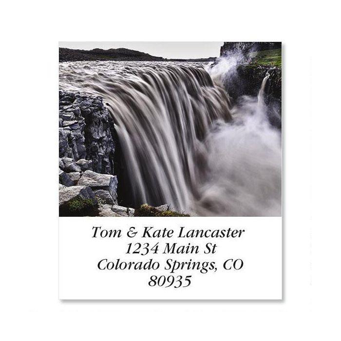 Dettifoss Waterfall  Select Return Address Labels