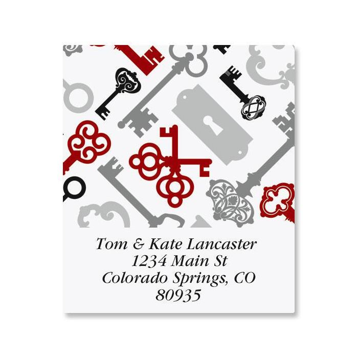 Keyed Up Select Return Address Labels