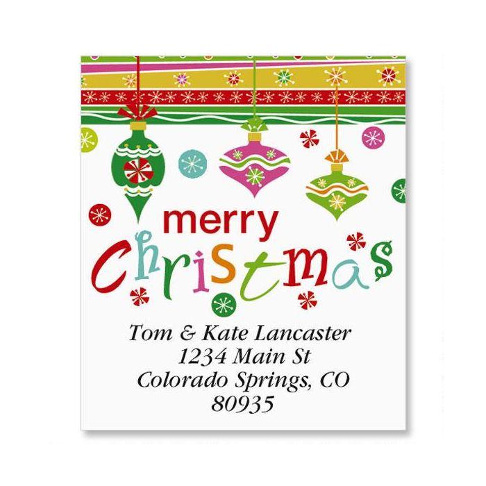 Merry Christmas Select Return Address Labels
