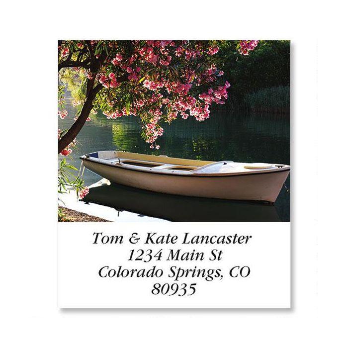 Peaceful Rowboat Select Return Address Labels