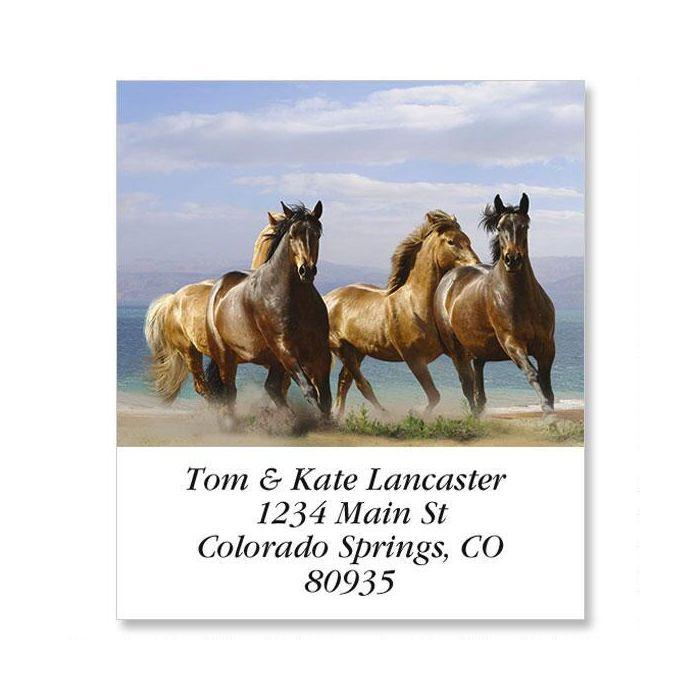 Horse Run Select Return Address Labels