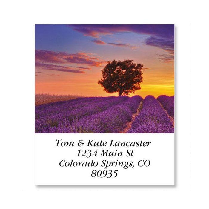 Sunset And English Lavender Select Return Address Labels