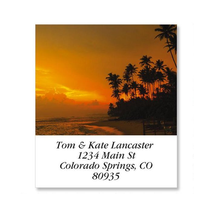 Sunset In The Tropics Select Return Address Labels