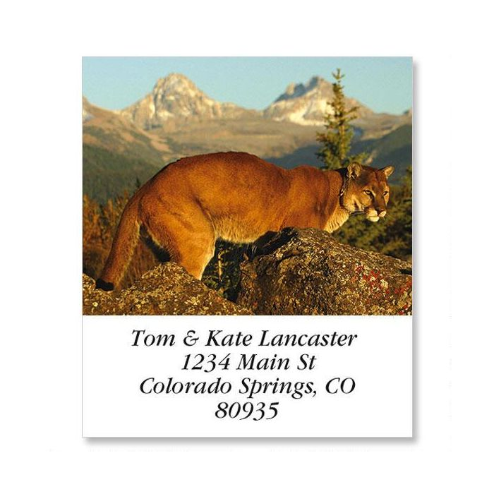 Mountain Lion Select Return Address Labels