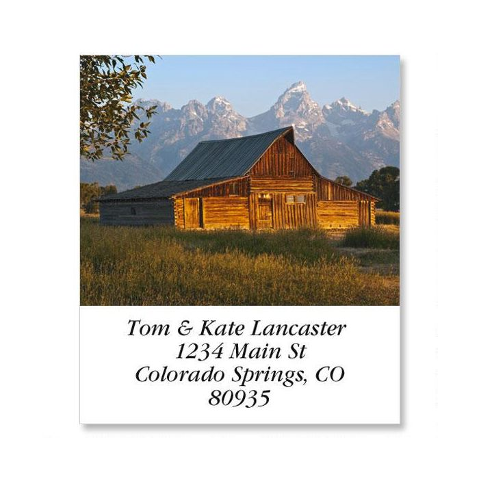 Mormon Row Barn Select Return Address Labels