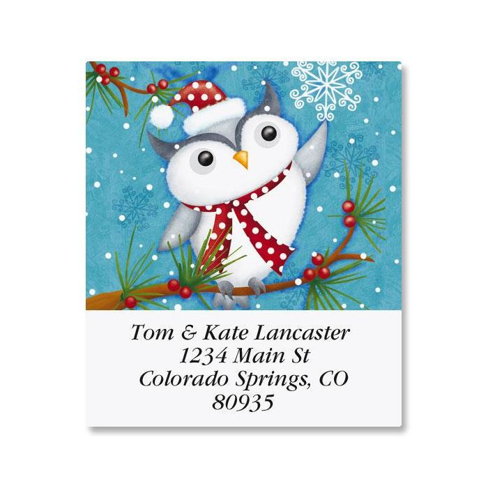 Happy Holiday Owl Select Return Address Labels