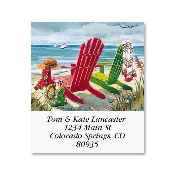 Seashore Christmas Select Return Address Labels
