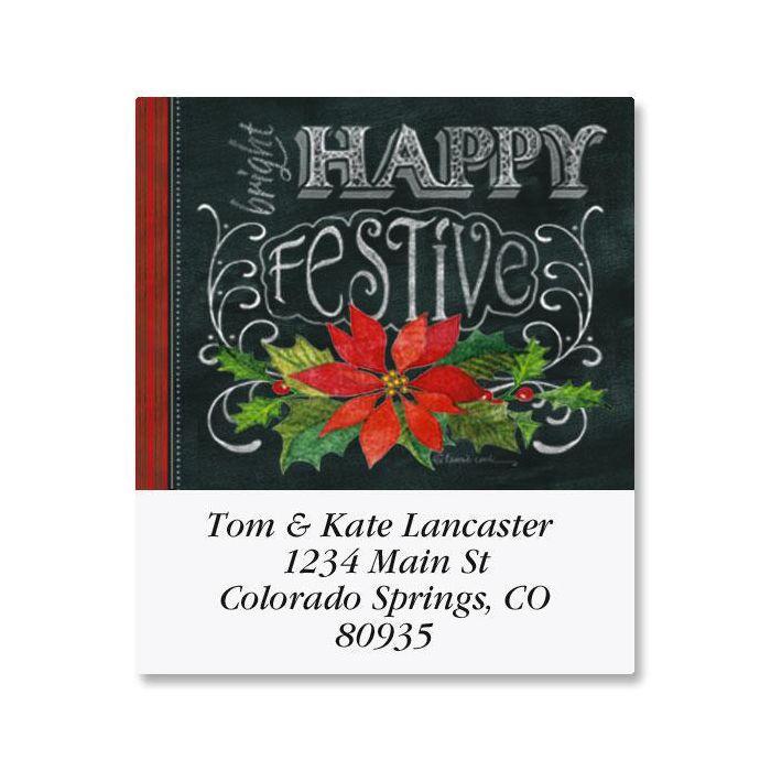 Merry, Jolly, Festive Select Return Address Labels