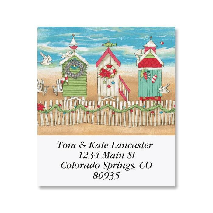Holiday by the Sea Select Return Address Labels