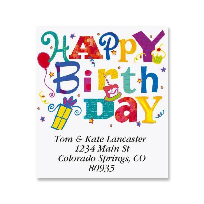 Wonderful Birthday Select Return Address Labels