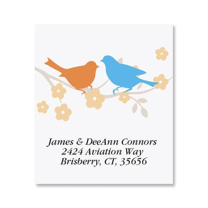 Love Birds Select Return Address Labels